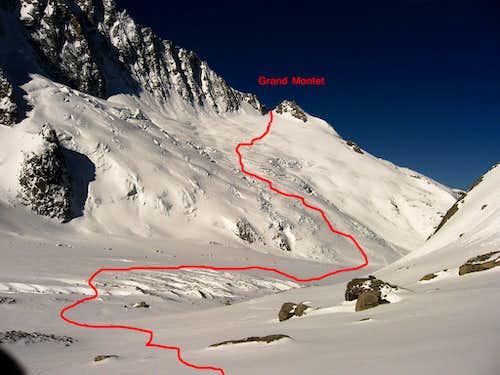 The ski route..
