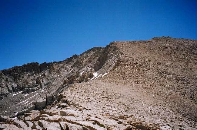 West slope of Mt. Barnard...