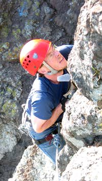 My determined drytooling face