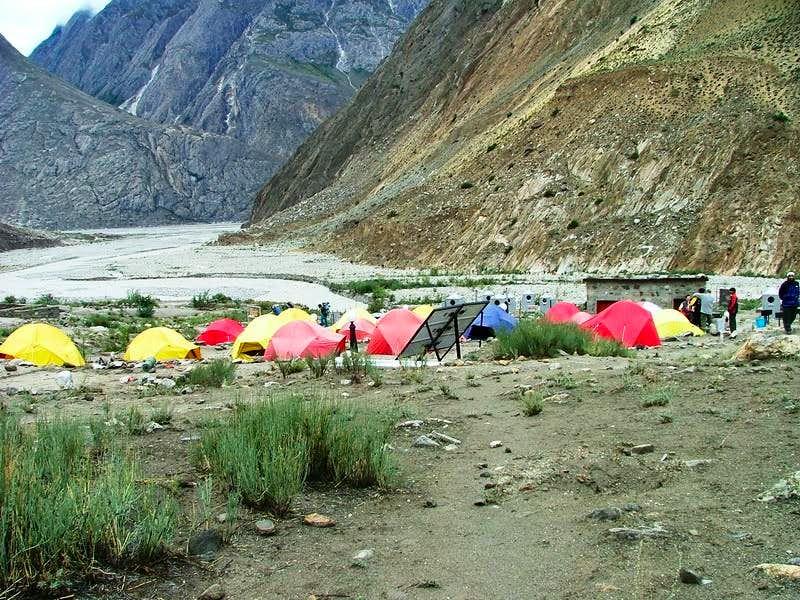 Camping at Korofong
