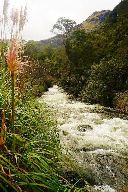 Taitachugo river near Llaviucu lake