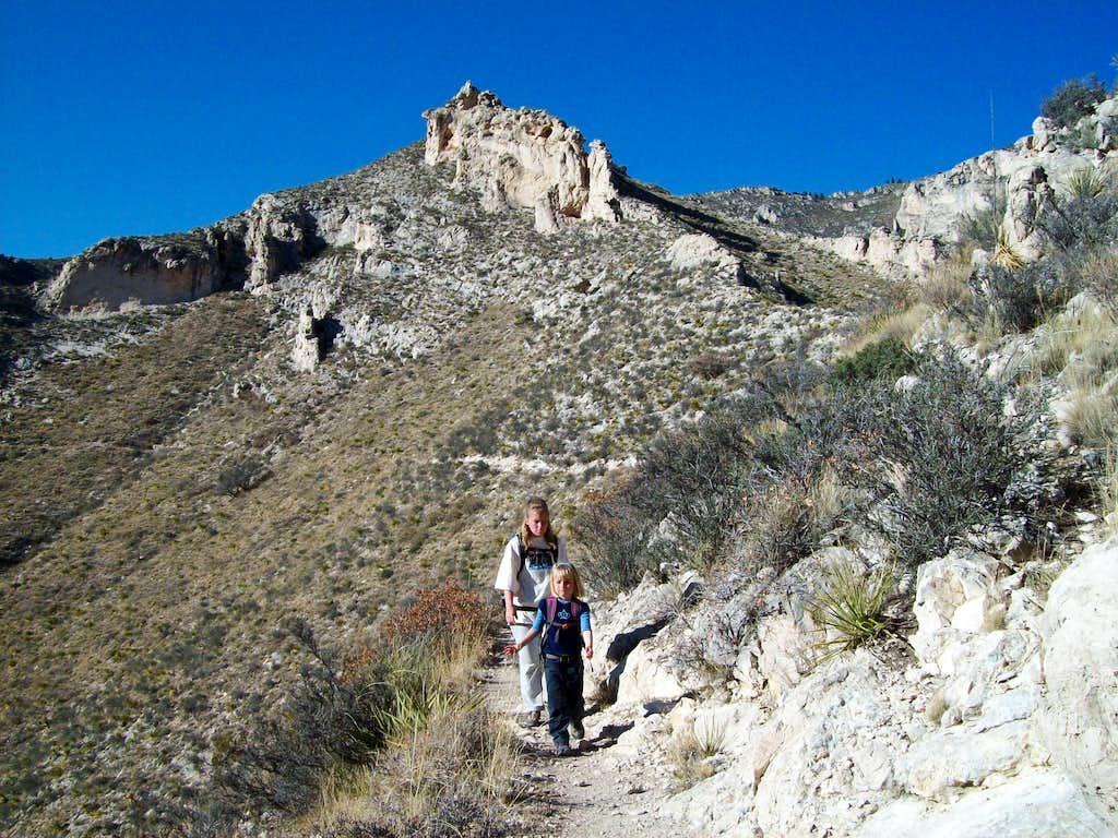 Hunter Peak descent
