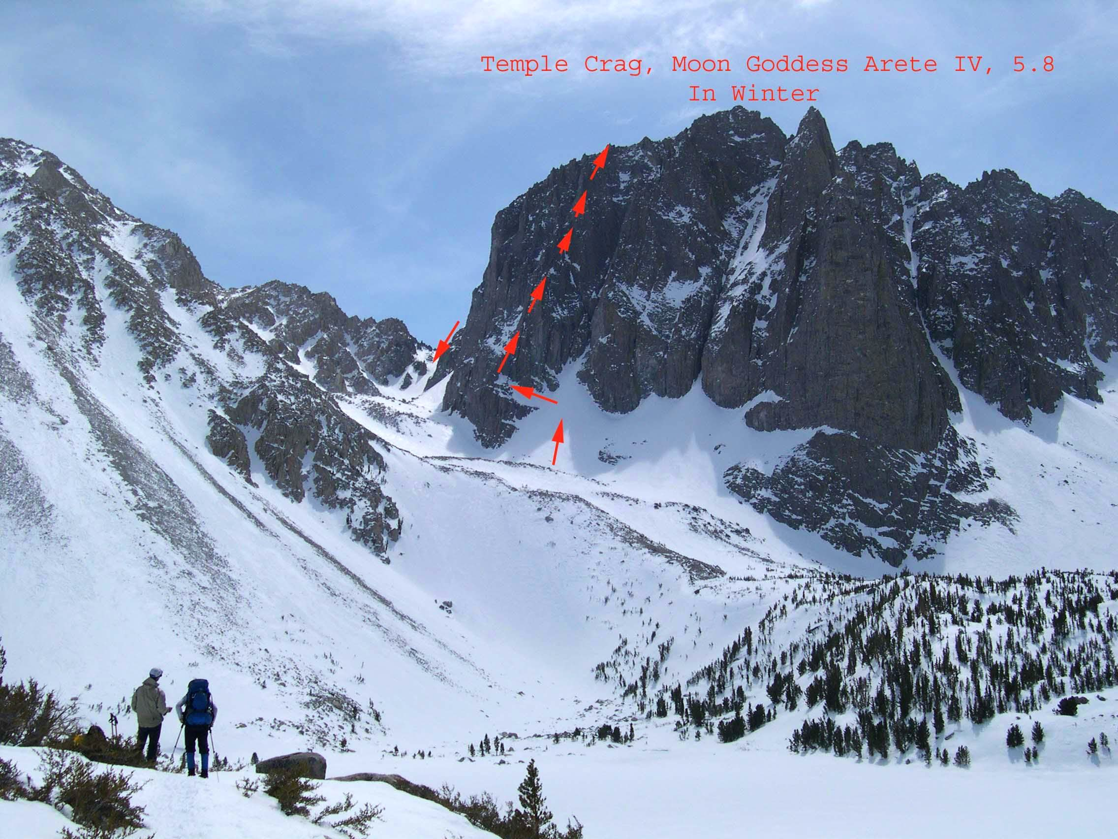 TEMPLE CRAG, Moon Goddess Arete, In Winter