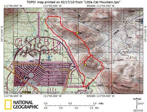 Little Cat Mountain,  UN 3380 Loop