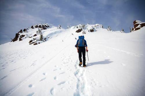 Summit approach on Mt Ellinor
