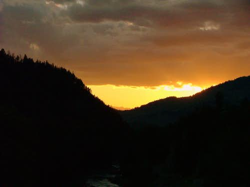 Yellowstone Sunset.