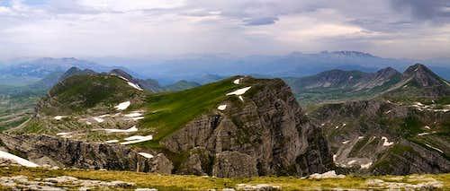 Kapa Moračka summit view