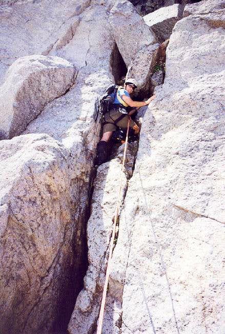 Sergio Verdina climbing up...