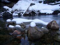Snow on Dinkey Creek