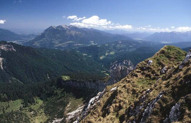 View from Mauerscharte to the...