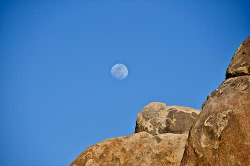 Moon rising over Whitney Cave