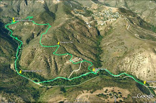 Solstice Canyon Loop - Google Earth