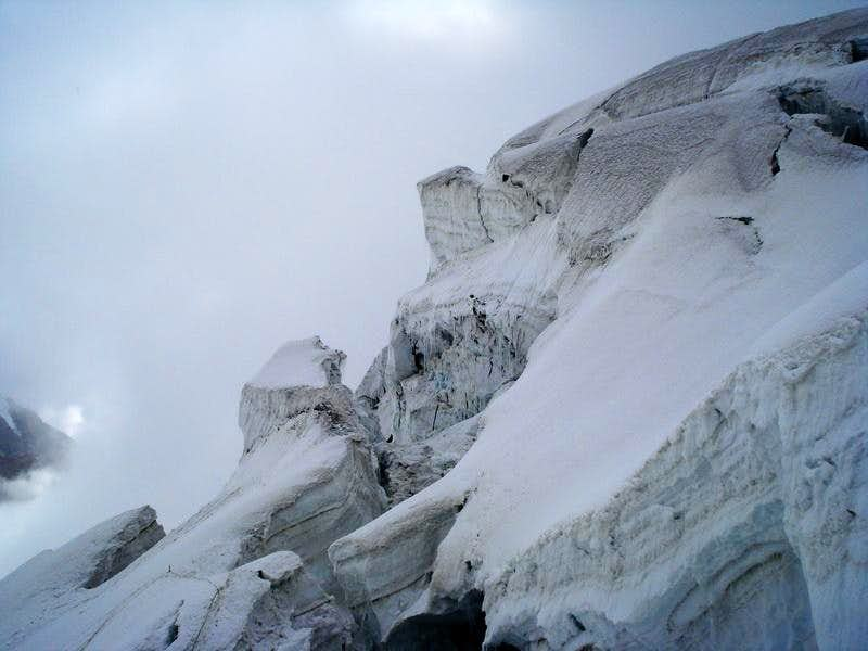 Crevasses on the Glaciers of Pakistan