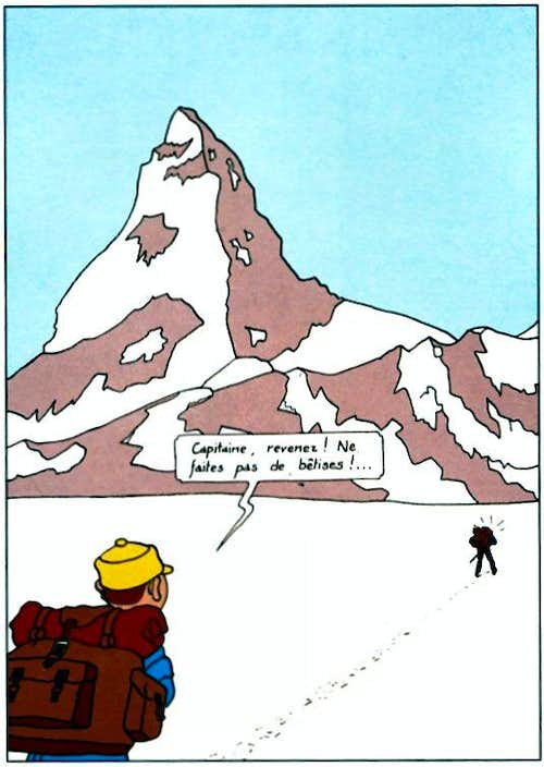 Tintin and the Matterhorn