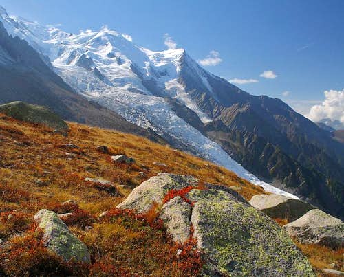 Mont Blanc in autumn dress