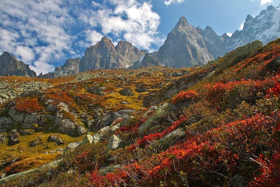 Fantastic Colors below the Aiguilles de Chamonix
