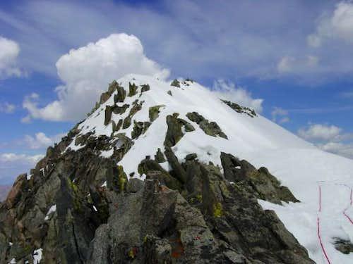 Gannett's final summit ridge...