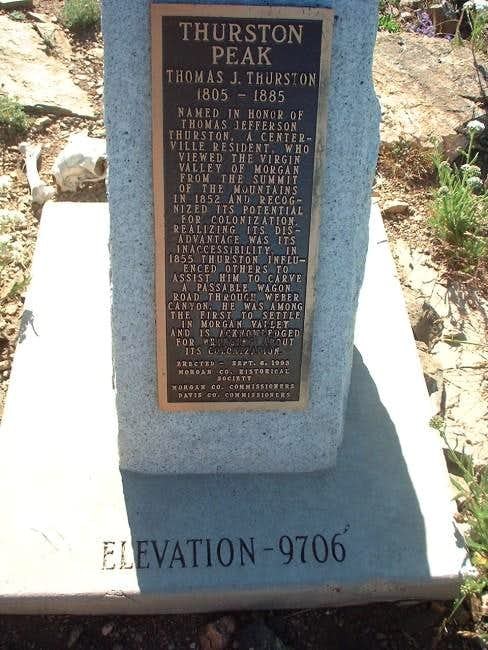 Wording from the summit marker