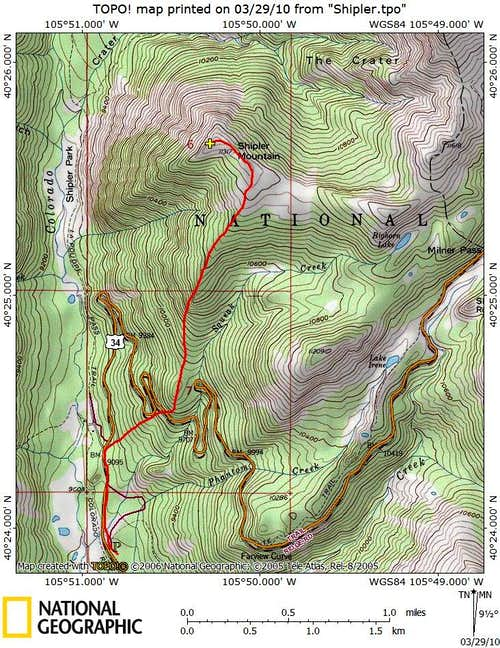 South Ridge, Winter_Route Map