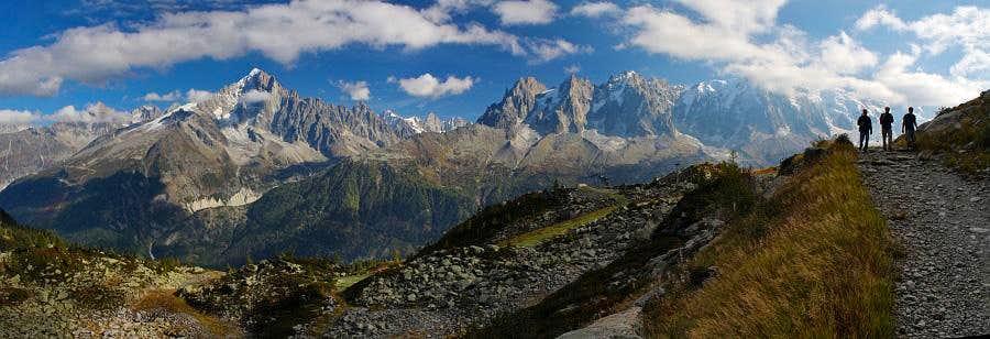 Panorama of Aiguilles de Chamonix