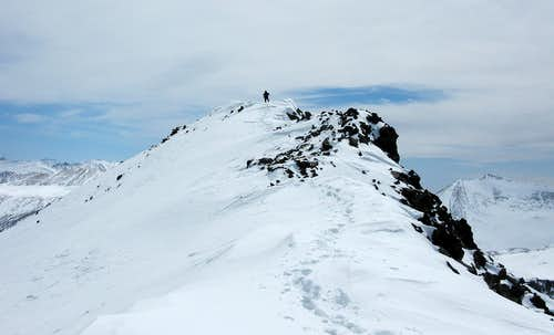 The final summit push on Eagle Peak