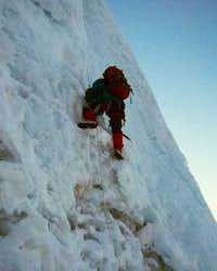 Passing the bergschrund of...