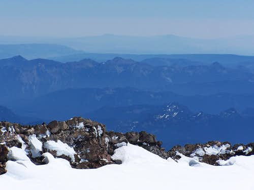 Mt. Aix from Mt. Rainier