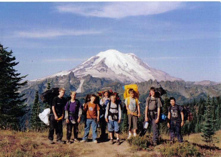 Mt. Rainier fron Naches Peak Loop Trail