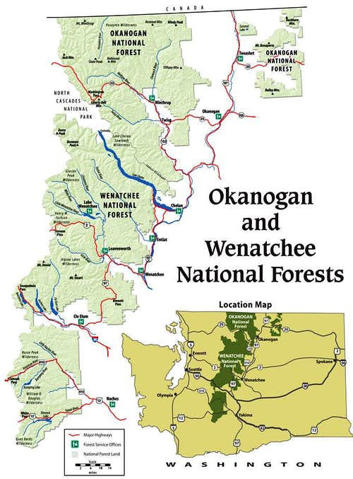 Wenatchee National Forest Map