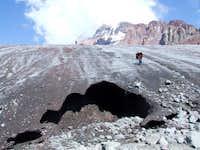 Gergeti glacier (Mount Kazbek)