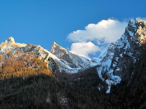 Steinberg (2065m) and Schärtenspitze (2153m) in the Hochkalter group