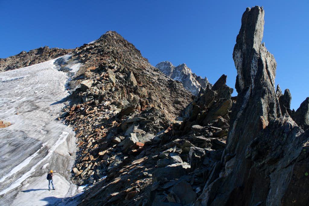 On the ridge ..