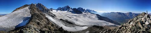 Panorama of the Mont Blanc range