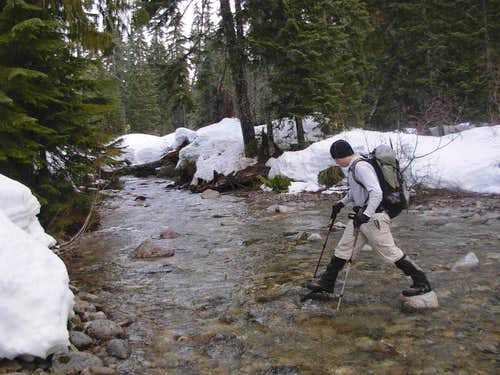 Crossing Quartz Creek