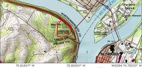 Topo map of Blue Hill in...