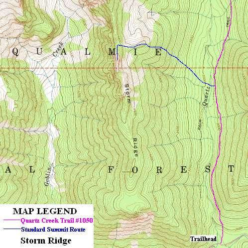 Storm Ridge Summit Route