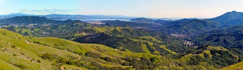 Loma Alta panorama of north Bay area