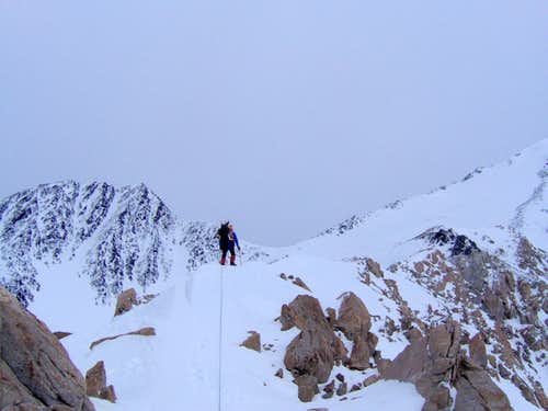 On the ridge after headwall