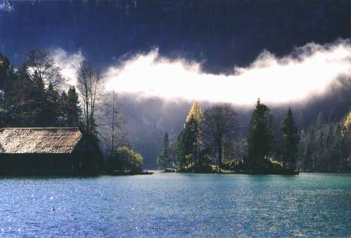 The Königssee situated at the...
