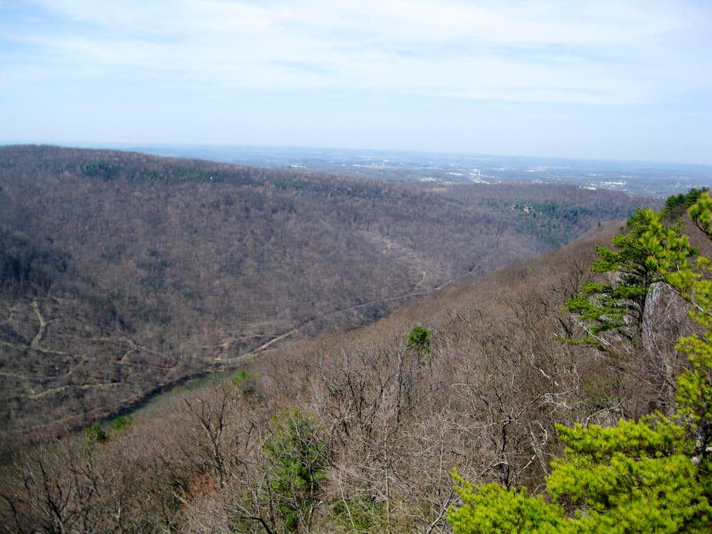 View toward Morgantown