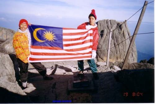 Malaysia flag at the summit...