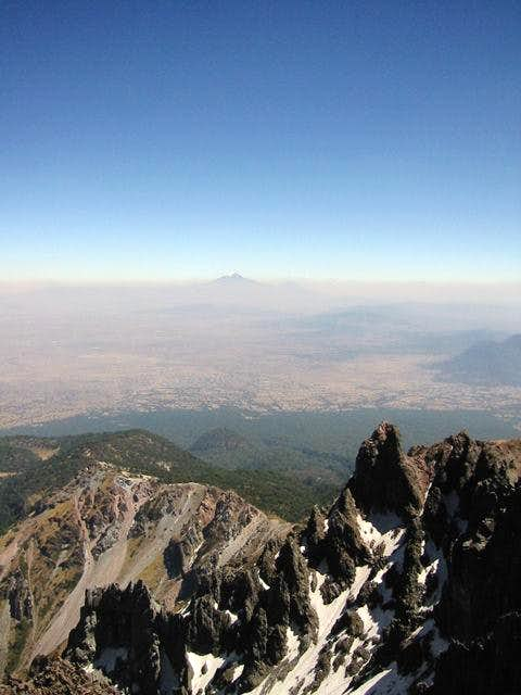 View towards Pico de Orizaba...