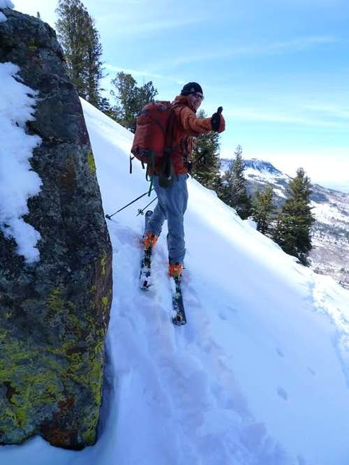 Near Fatal Avalanche on the Grand Mesa Thunderbird Couloir
