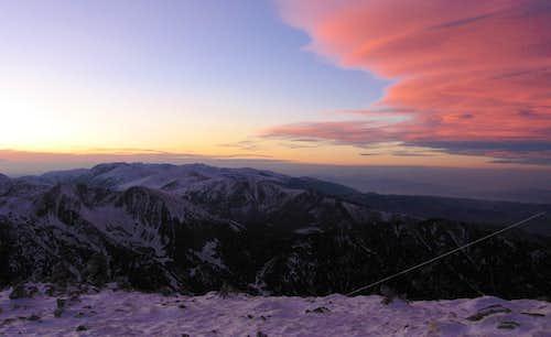 Musala sunset.