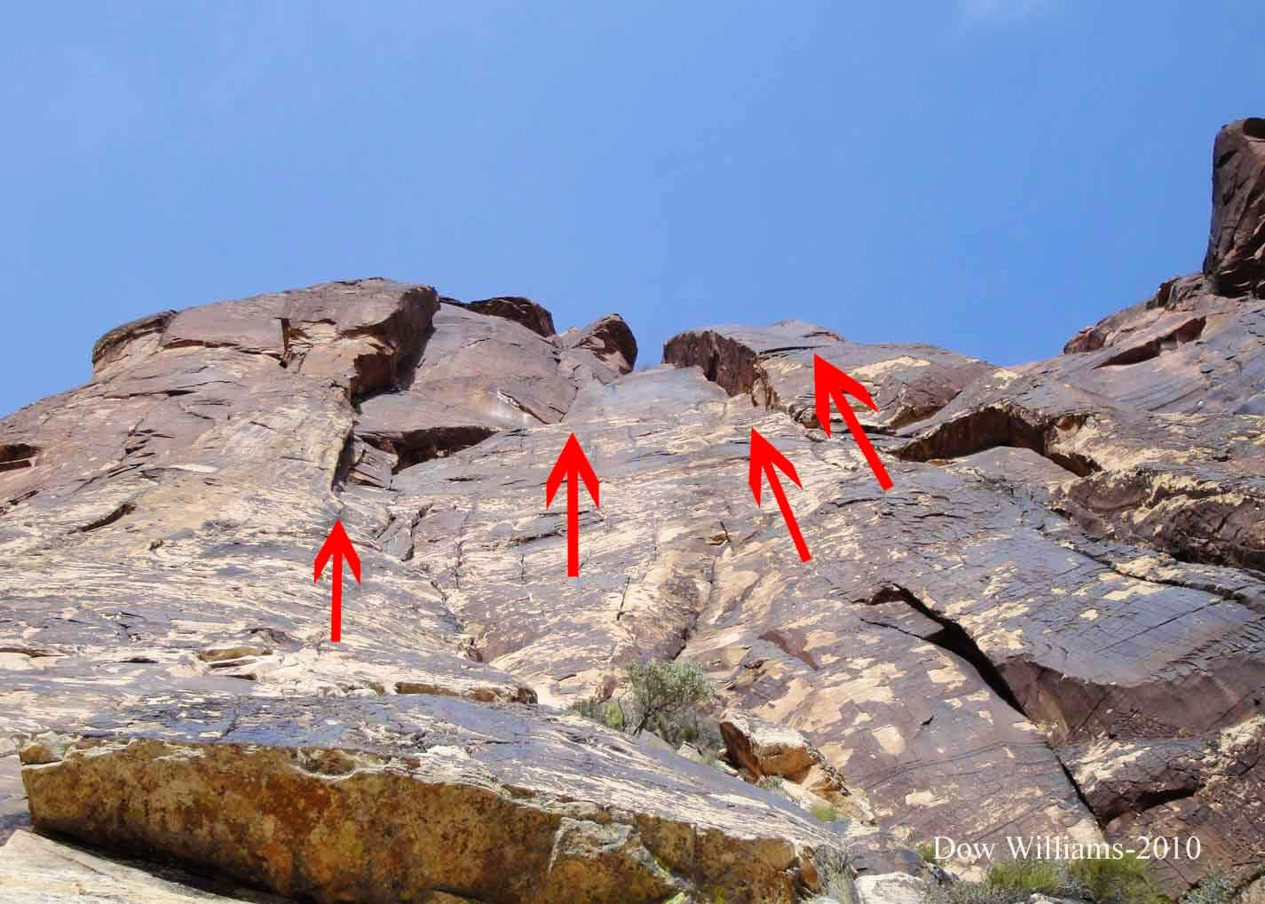 Hourglass Diversion, 5.9, 5 Pitches