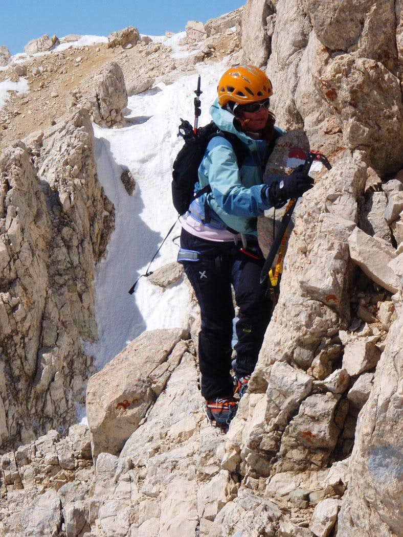 Approaching to Moriggia couloir