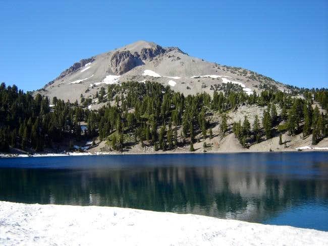 Lassen Peak from Helen Lake,...