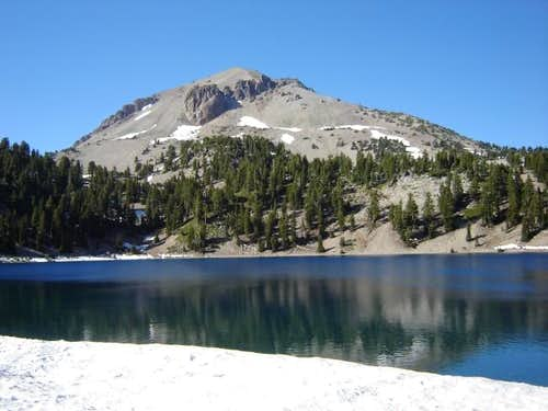 Lassen Peak from Helen Lake,...