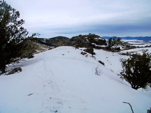 Looking back down the summit ridge