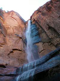 Waterfall near Temple of Sinawava